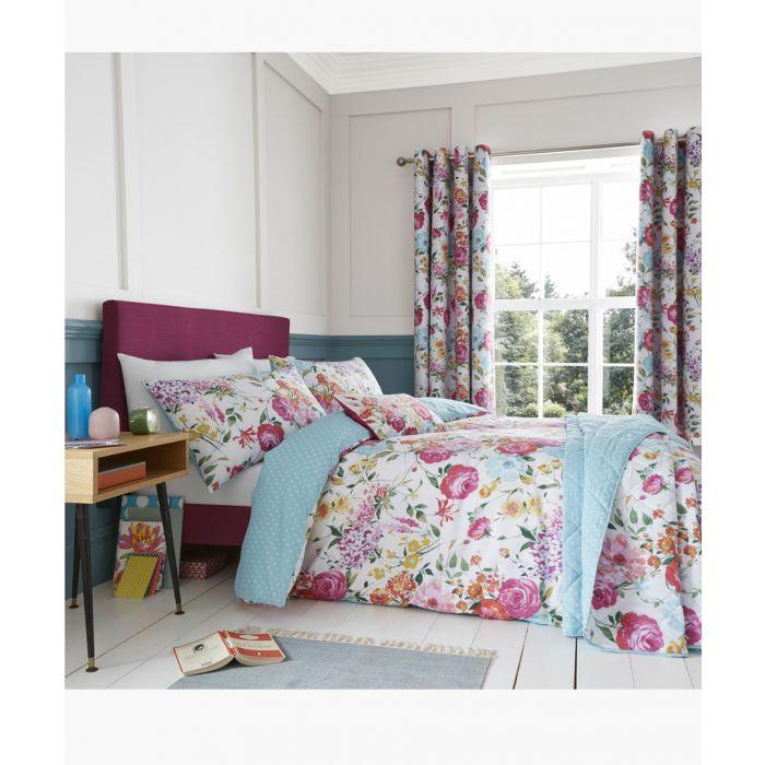 Image for Sailsbury multi-coloured cotton blend 220x230cm bedspread