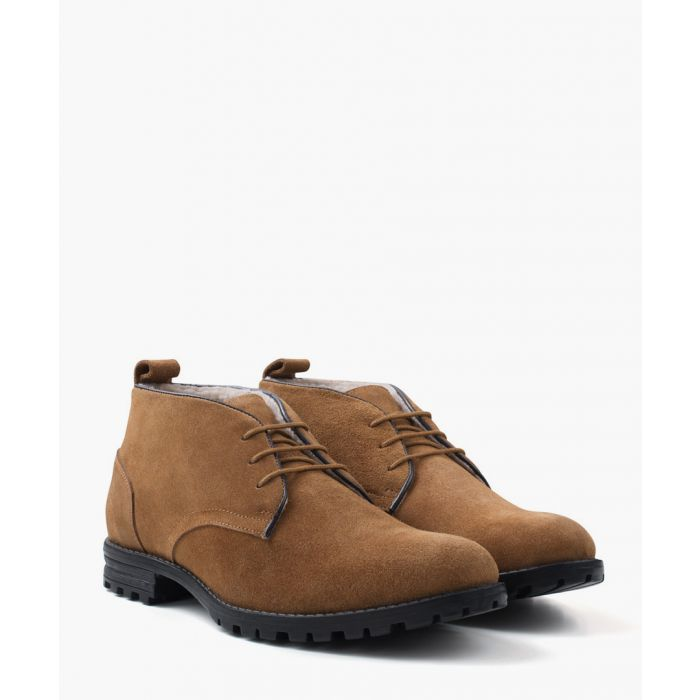 Image for Tan faux-suede water resistant boots