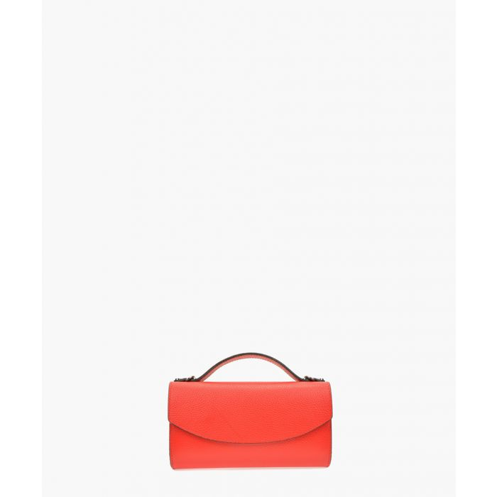 Image for Red leather shoulder bag