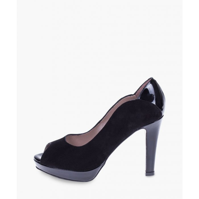 Image for Black peep toe heels