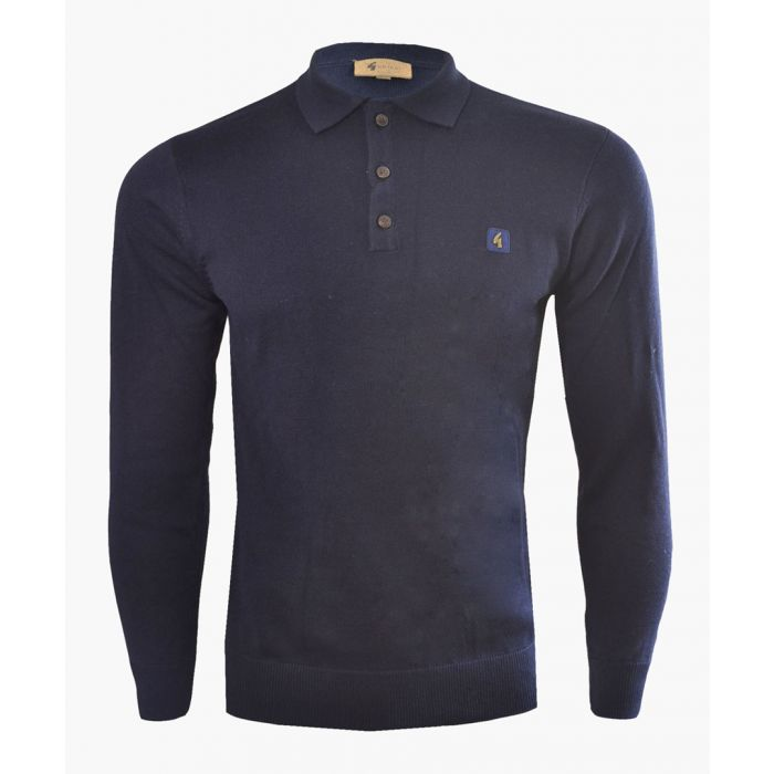 Image for Navy cotton blend polo  jumper
