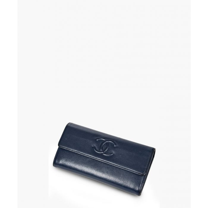 Image for Vintage dark blue logo wallet