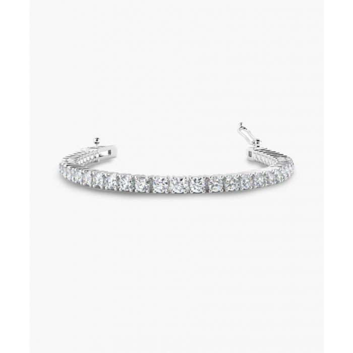 Image for 9k white gold diamond bracelet