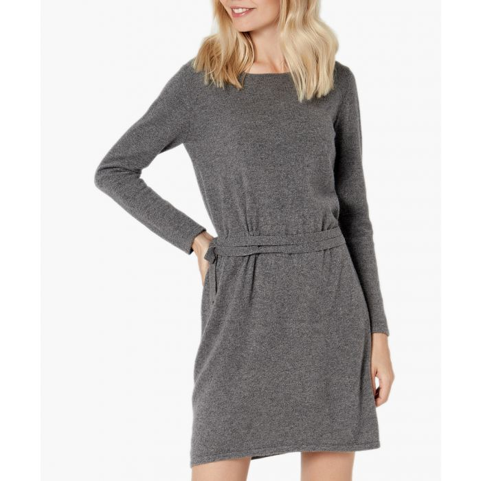 Image for Neutral grey pure cashmere jumper