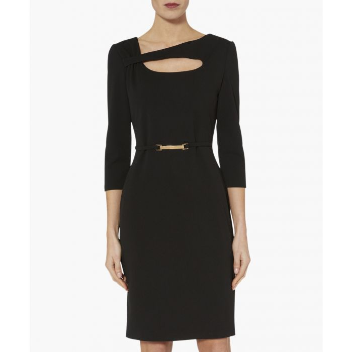 Image for Black dafne scuba crepe dress