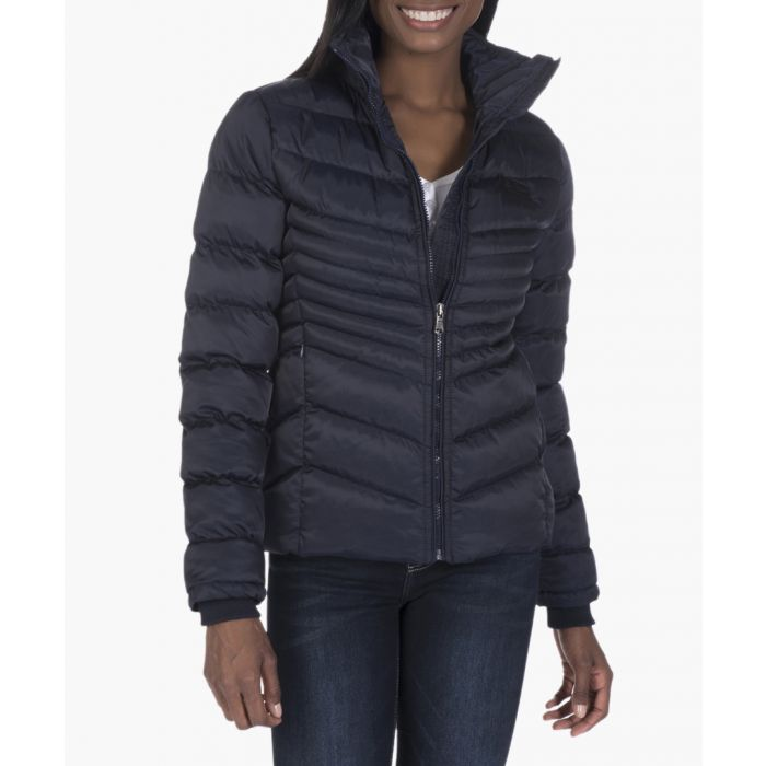 Image for Navy blue quilted jacket