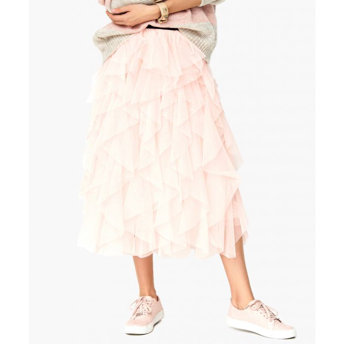 Image for Powder pink woven skirt
