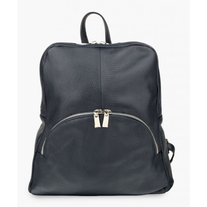 Image for Navy blue leather backpack