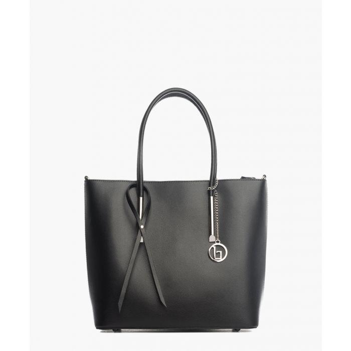 Image for Mallero black leather shoulder bag