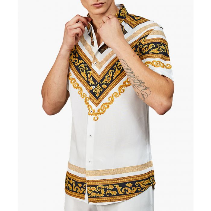 Image for White short sleeved baroque printed shirt