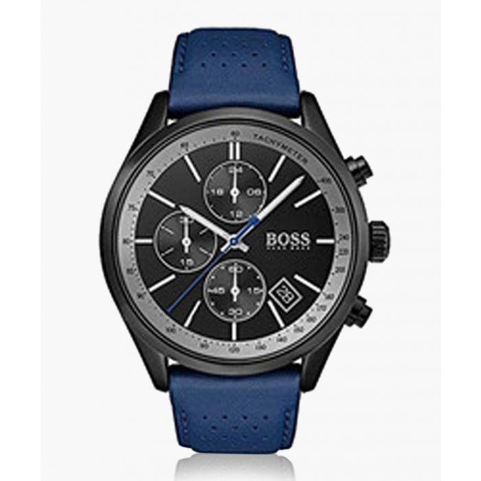 Image for Blue and black leather watch