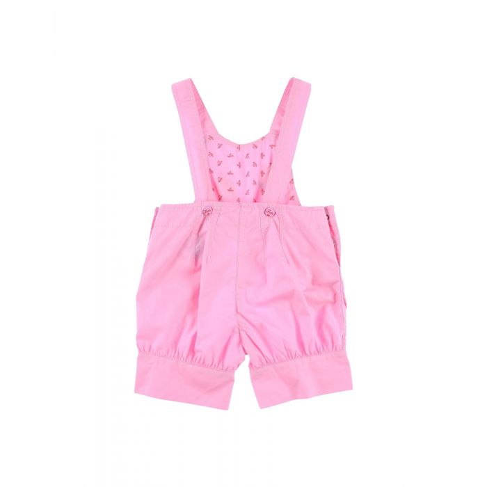 Image for Kids pink cotton dungarees