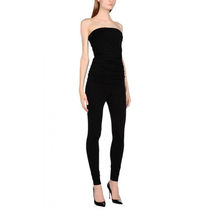 Image for Dark blue and black viscose jumpsuit