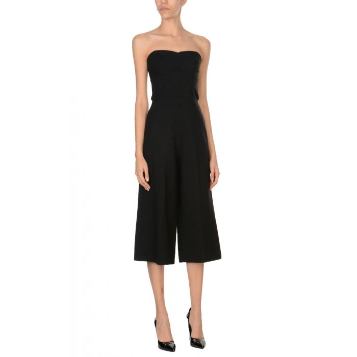 Image for Black viscose jumpsuit