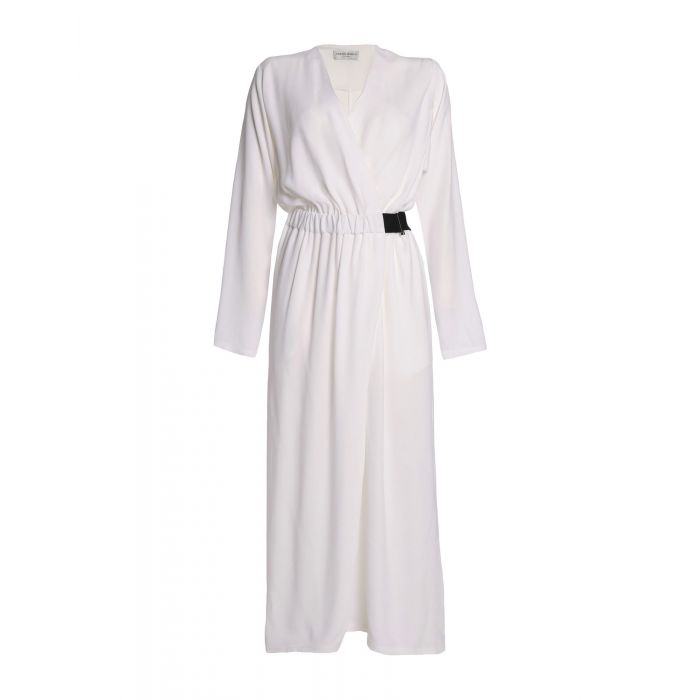 Image for White acetate jumpsuit