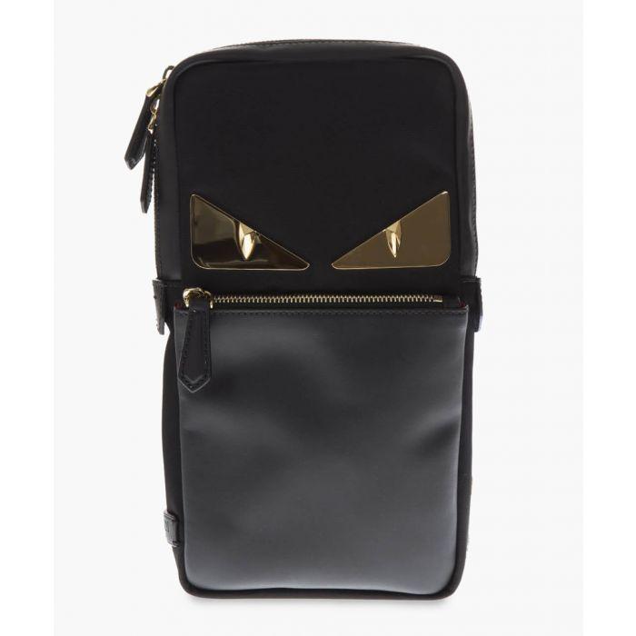 Image for Bugs black leather belt bag