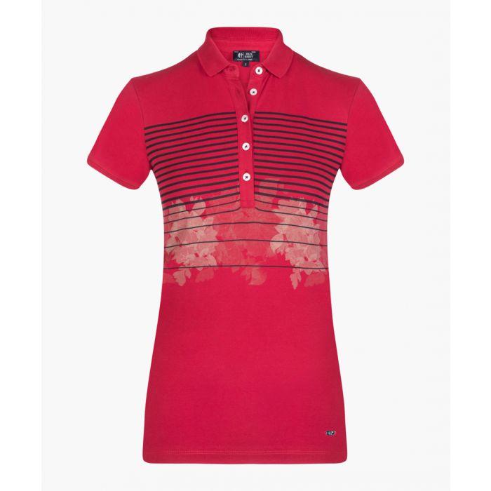 Image for Bordeaux stretch cotton polo shirt