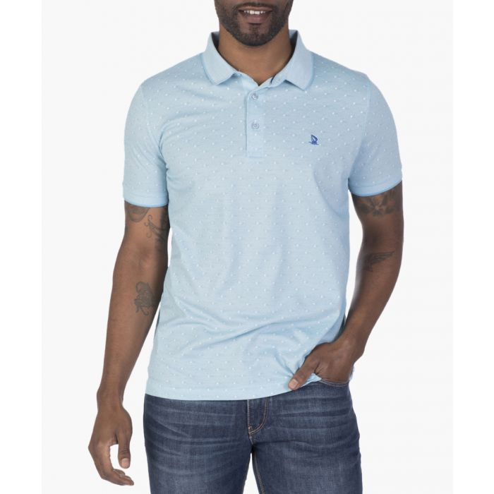 Image for Blue and white polo shirt