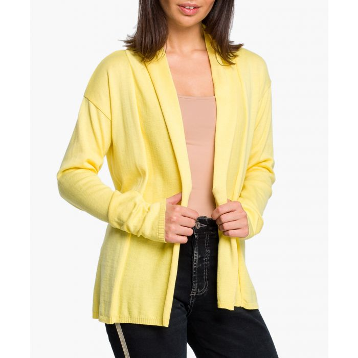 Image for Yellow cotton blend cardigan