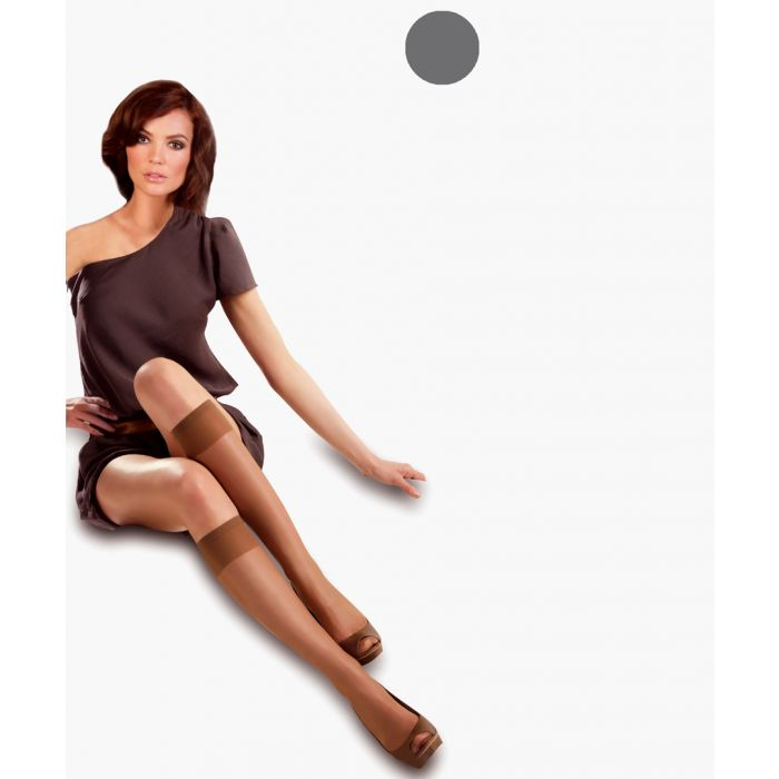 Image for 2pc graphite knee-high socks 50 denier