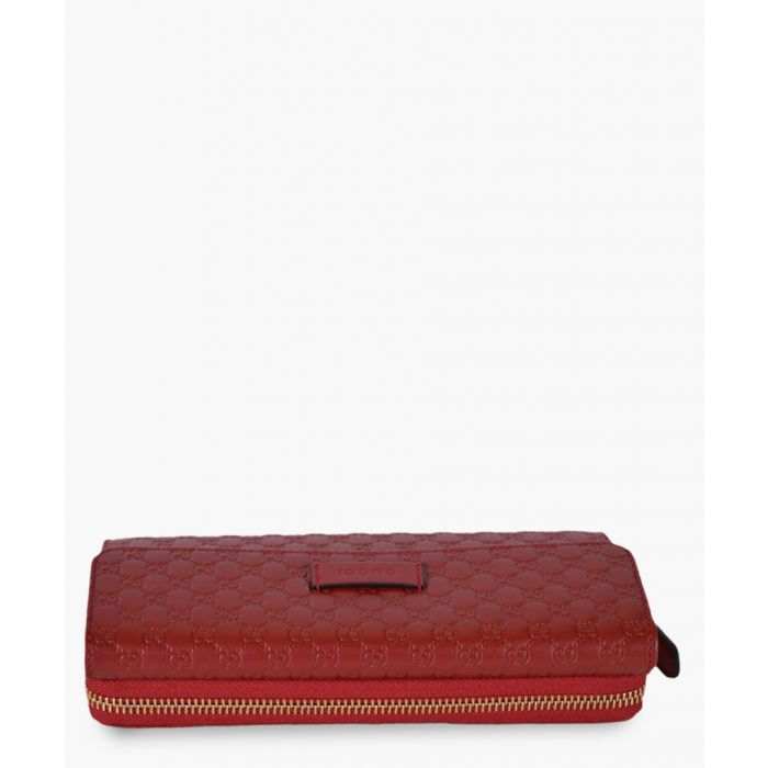 Image for Guccissima red leather zip purse