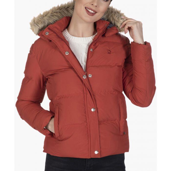 Image for Brick-orange cotton coat