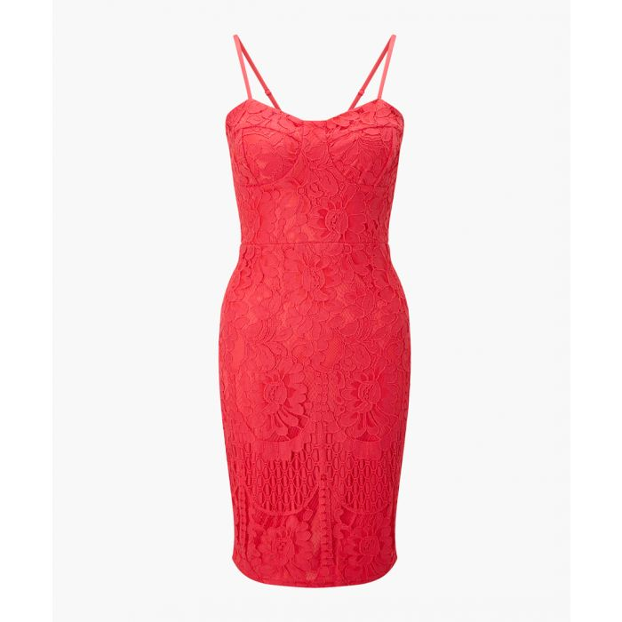 Image for Coral strappy bodycon dress