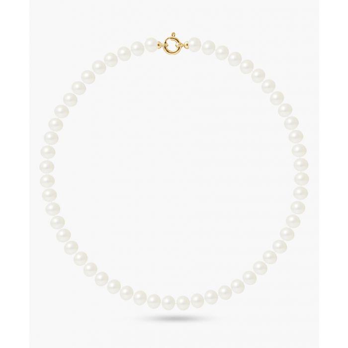 Image for Gold-plated natural white pearl necklace