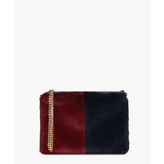 Image for Stephanie The Kempton Collection navy and burgundy clutch
