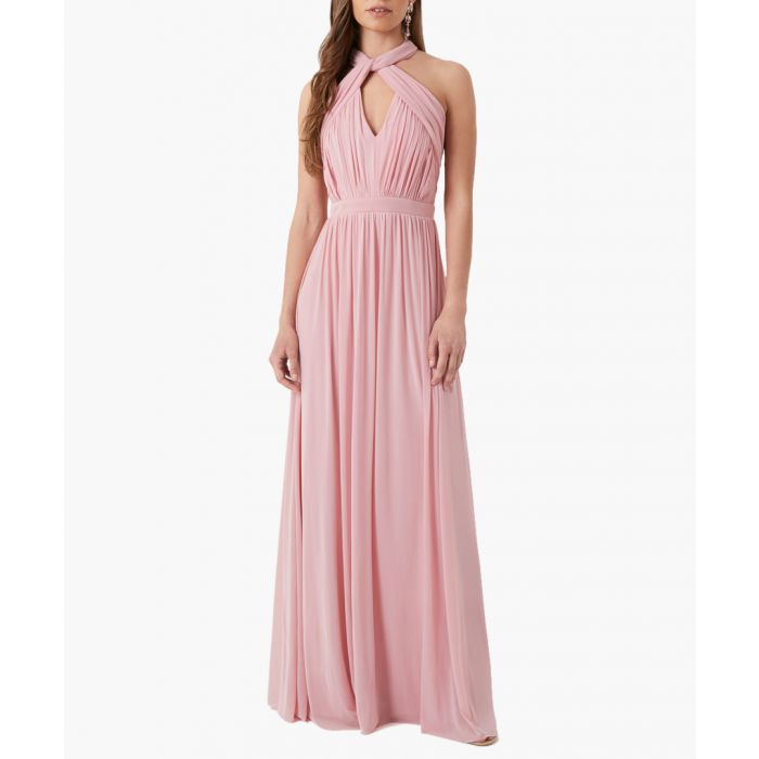Image for Pink mesh maxi dress