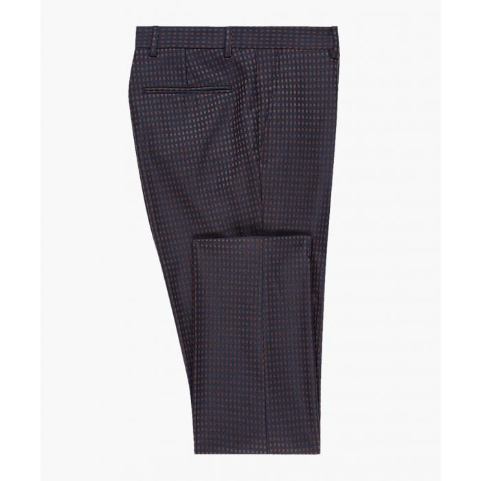 Image for Navy and purple slim trousers