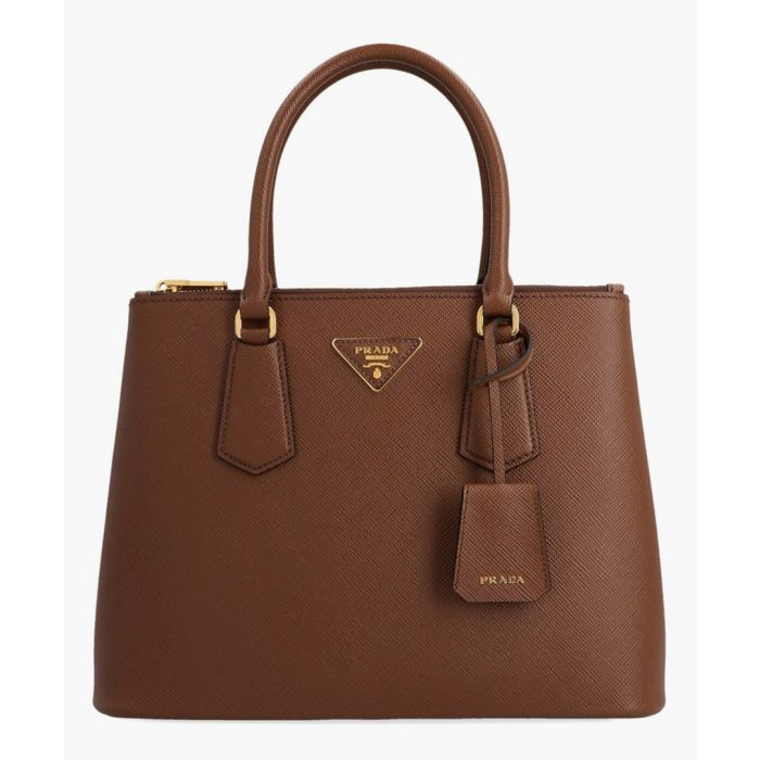 Image for Marron leather grab bag