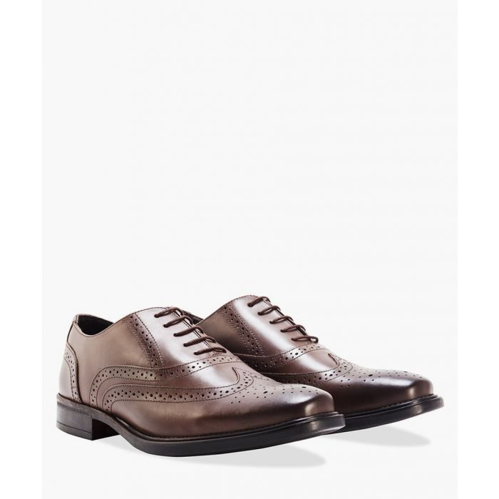 Image for Brown leather Oxford brogues