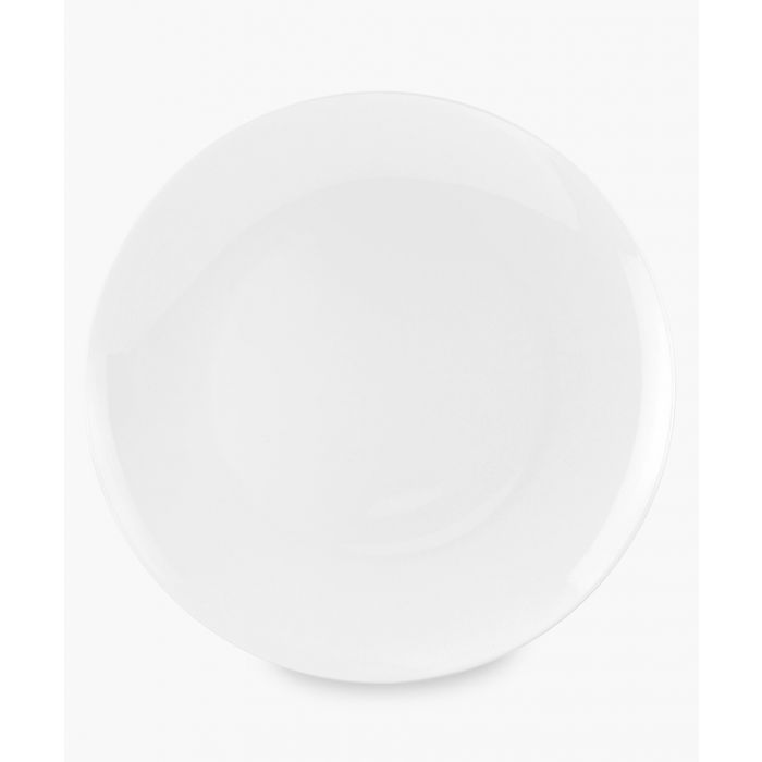 Image for 4pc Serendipity plain white bone china plates 10.5