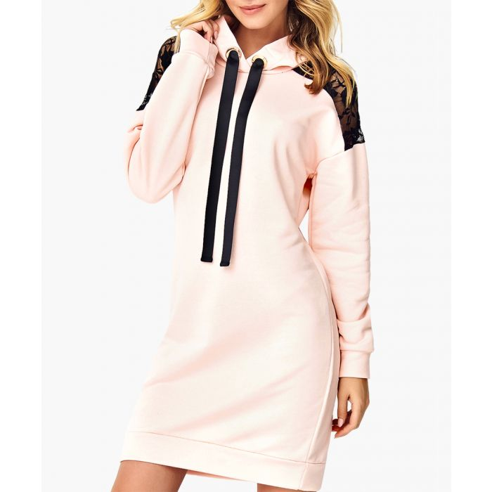 Image for Powder pink cotton blend dress