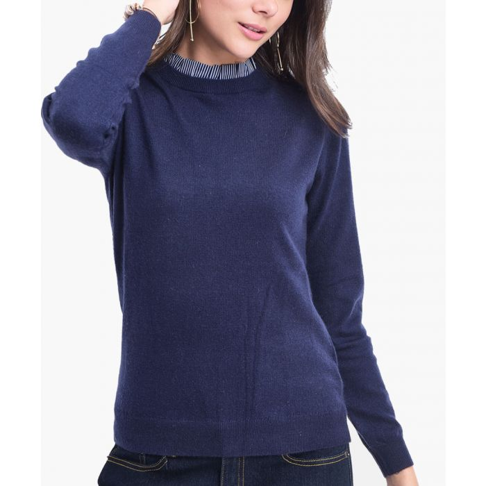 Image for Blue cashmere blend jumper