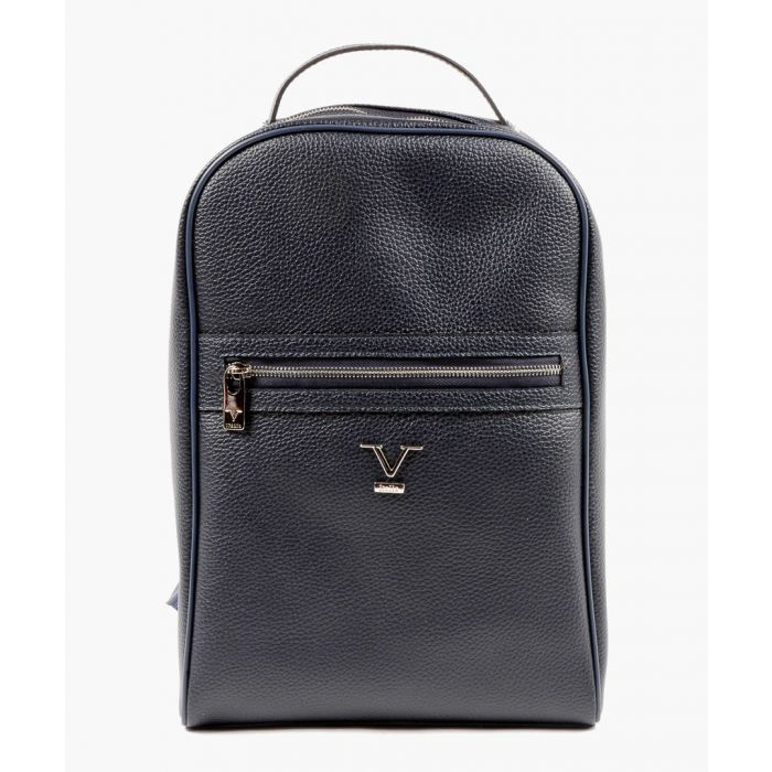 Image for Blue zip detail backpack