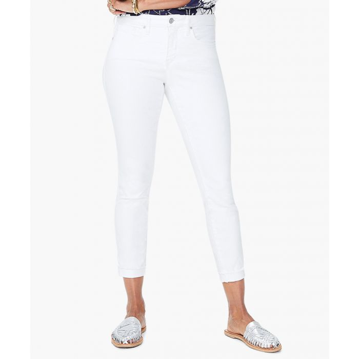Image for Ami optic white skinny ankle jeans