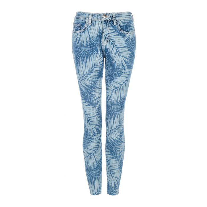 Image for The Stiletto leaf print skinny jeans