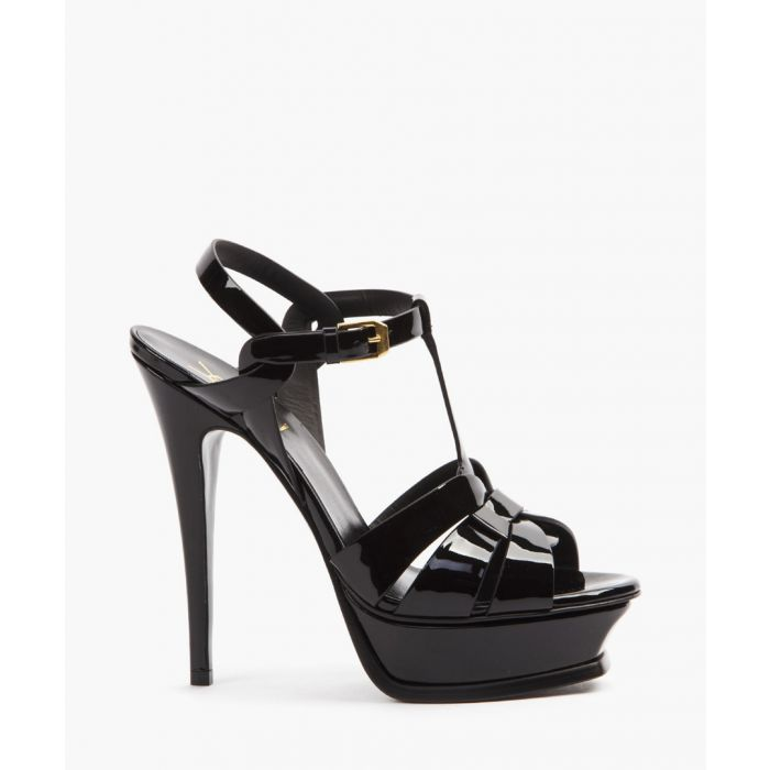 Image for Tribute black patent leather sandals