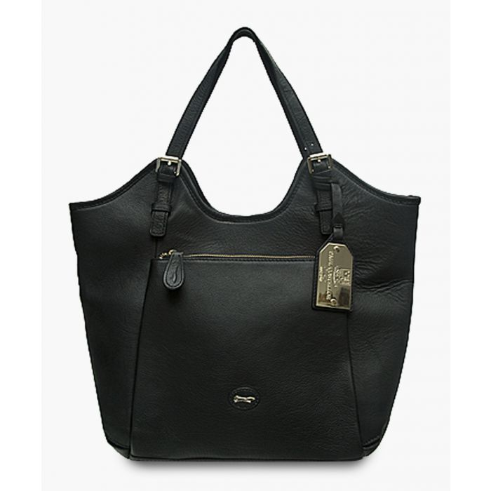 Image for Alberta black leather bag