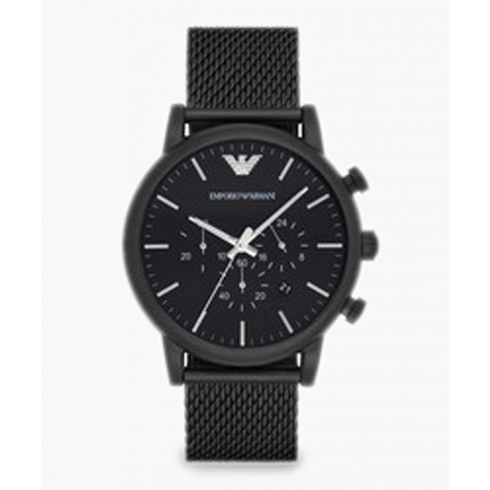 Image for Black stainless steel mesh watch