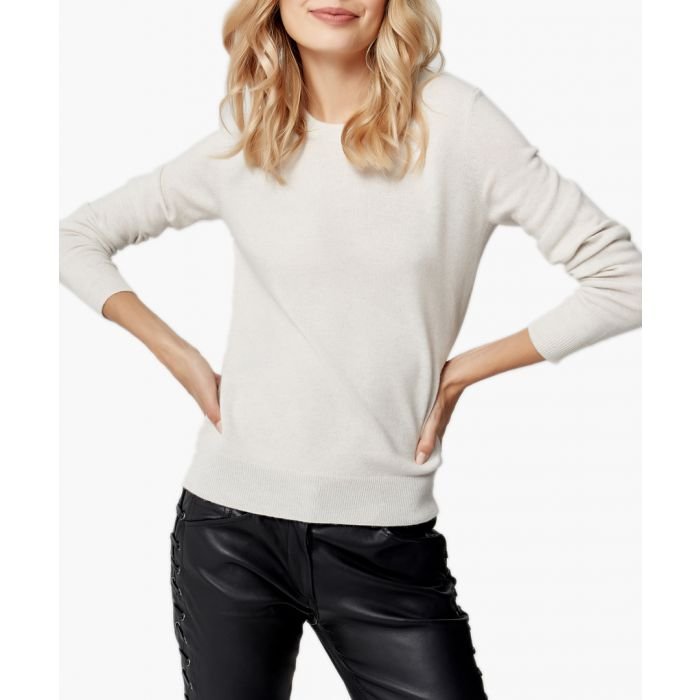 Image for Light grey melange pure cashmere jumper