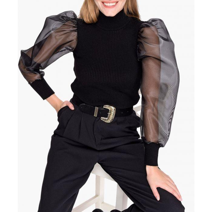 Image for Black pure cotton jumper