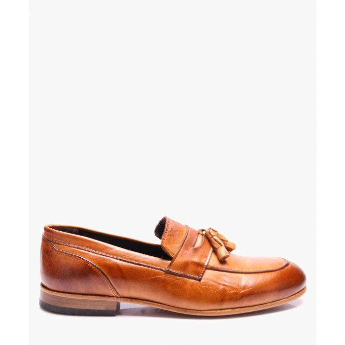 Image for Brown leather loafers