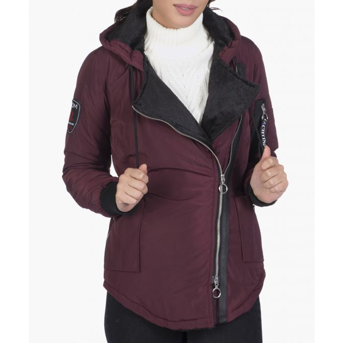Image for Bordeaux shell hooded jacket