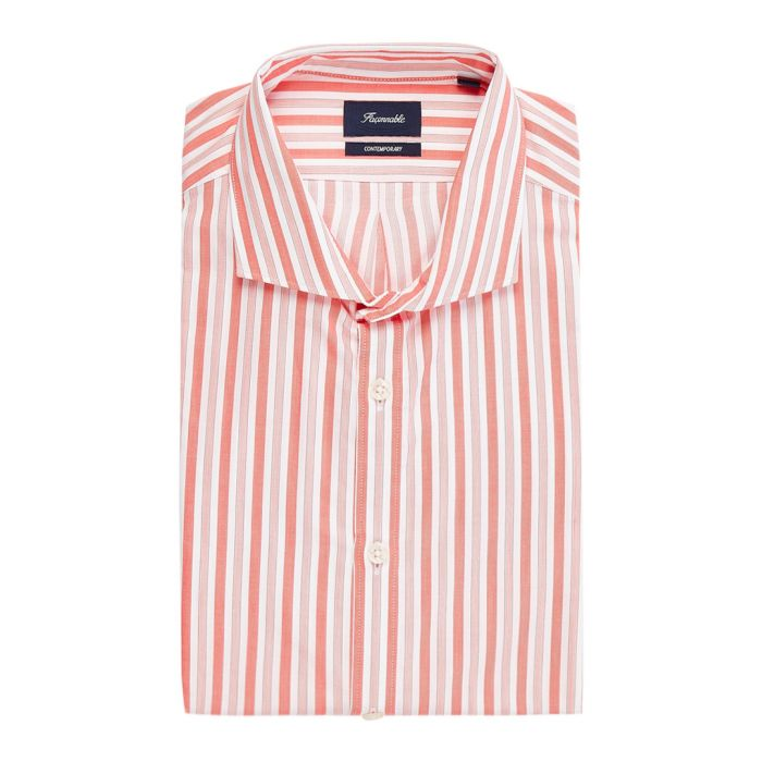 Image for Riviera orange striped shirt