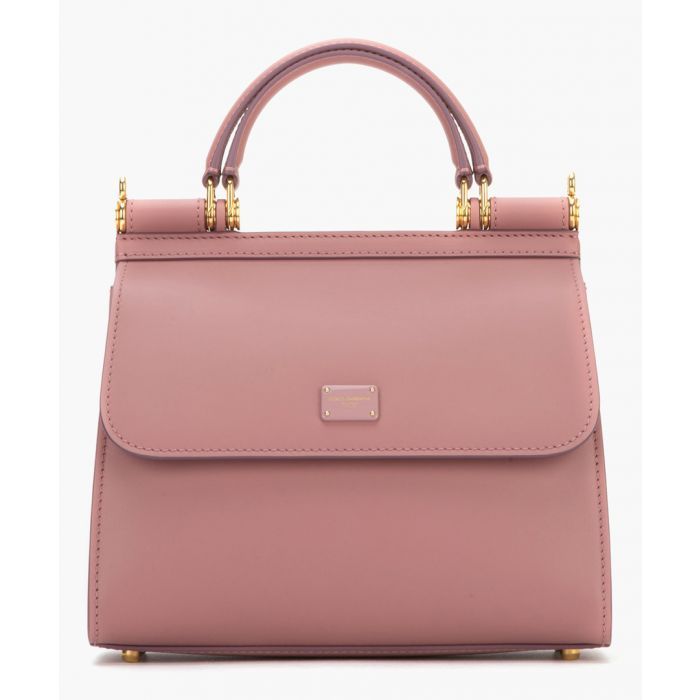 Image for Sicily 58 pink leather small tote