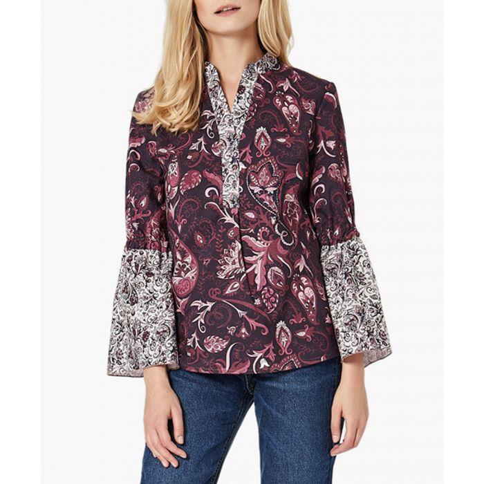 Image for Print mix woven shirt