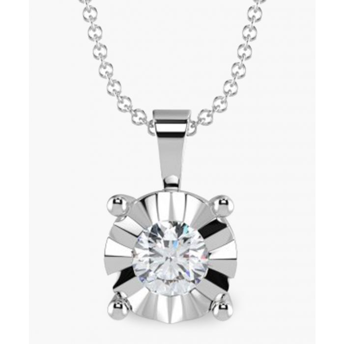 Image for 9k white gold 0.15ct diamond pendant